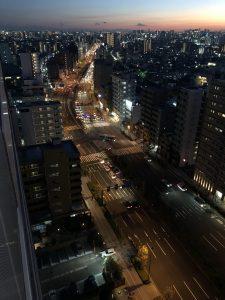 ベランダから横浜方面